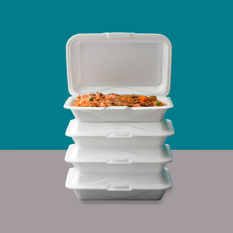 Foam Hinged Lid Take Out Container