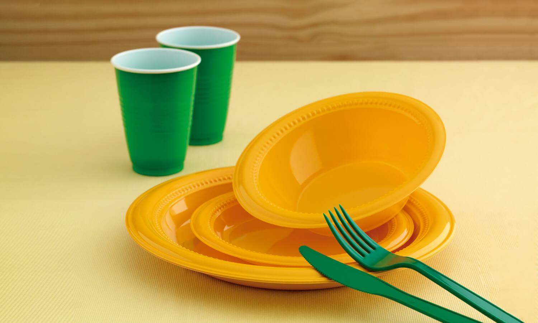 Platos Plásticos Color